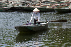Row boat tam coc Royalty Free Stock Photography