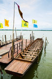 Row boat in thailand Royalty Free Stock Photography