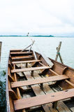 Row boat in thailand Stock Photography