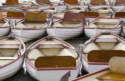Row Boats. Tied up in France Royalty Free Stock Photo