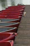 Row Boats on a Lake Royalty Free Stock Image