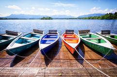 Row boats Stock Images
