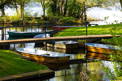 Row Boats Stock Photography