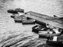 Row Boats at rest Stock Photo