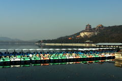 A row of boats in Summer Palace Stock Photo