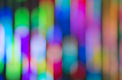 Row Bokeh. Colorful bokeh in vertical row Stock Images