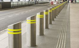 Row of Bollards Royalty Free Stock Images