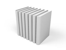 Row of books. Isolated over a white background - 3d render Stock Photo