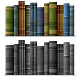 Row of  books. Row of old vintage books isolated on white,  illustration Royalty Free Stock Images