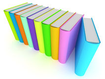 Row of Books. A Colouful 3d Rendered Illustration of a Row of Books Stock Images