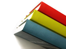 Row of books. Isolated and blank stock photo