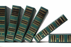 Row of books. Fall to surface Royalty Free Stock Image