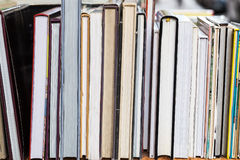 Row of books at an antiquarian bookshop Royalty Free Stock Photography