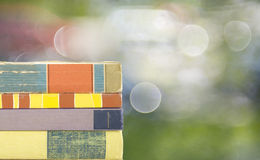 Row of books, blurred background, Royalty Free Stock Photos