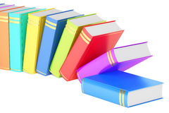 Row of books, 3D rendering. On white background Royalty Free Stock Photography