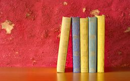 Row of books, free copy space Stock Images