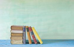Row of books Stock Images