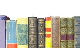 Row of books, isolated Stock Photos