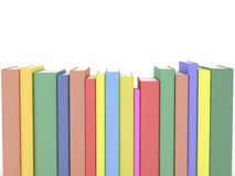 Row of books. Row of rendered books isolated on white Stock Images