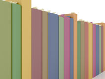 Row of books. Row of rendered books  on white Stock Photography
