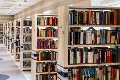 Row of Books in Shelf Royalty Free Stock Photos