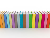Row of books. On white background Royalty Free Stock Photography