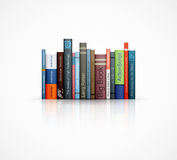 Row of books on white background Stock Photo