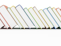 Row of books on white. Row of rendered books  on white Royalty Free Stock Photos