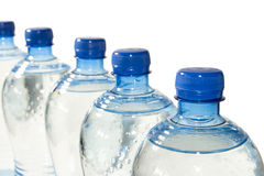 Row of Bottled Water Royalty Free Stock Photo