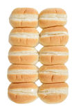 Row of bread rolls Stock Photos