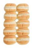 Row of bread rolls Stock Photos