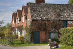 Row of brick cottages, Gloucestershire Stock Photography