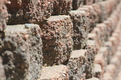 Row of Bricks Stock Image