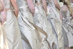 Row of brides maids Royalty Free Stock Photography