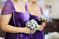 Row of bridesmaids Stock Image