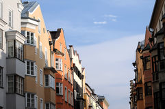 A Row of Brightly Coloured Houses Stock Photo