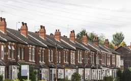 Row of houses Royalty Free Stock Images