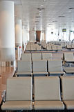 Row of brown chair at airport Royalty Free Stock Photos