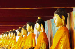Row of Buddha. At the temple thailand Stock Image