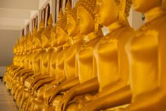 Row. Of buddha Royalty Free Stock Images