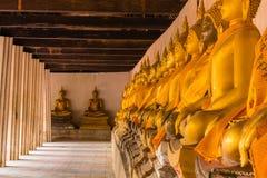 Row buddha image , Ayutthaya in Thailand Royalty Free Stock Image