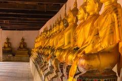 Row buddha image , Ayutthaya in Thailand Royalty Free Stock Photo