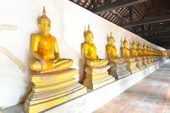 Row of Buddha images Stock Photos