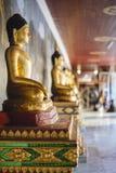 Row of buddha statues. Royalty Free Stock Photos