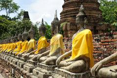 Row buddha thailand Stock Image