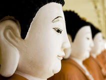 Row of Buddhas Stock Photo
