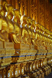 Row of buddhas Stock Images