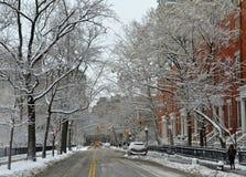 Row of buildings near Washington Square Park, NYC Stock Photo