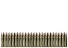 Row of bullets Stock Images