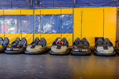 Row of bumper cars at a funfair Royalty Free Stock Photography